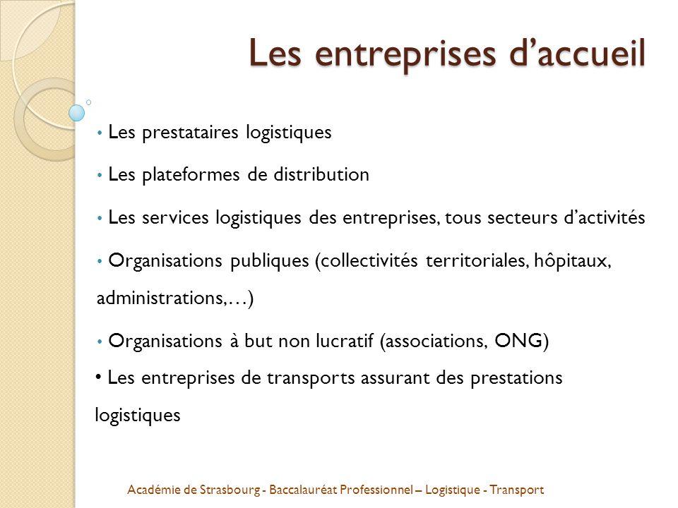 Académie de Strasbourg - Baccalauréat Professionnel – Logistique - Transport L'organisation de la logistique