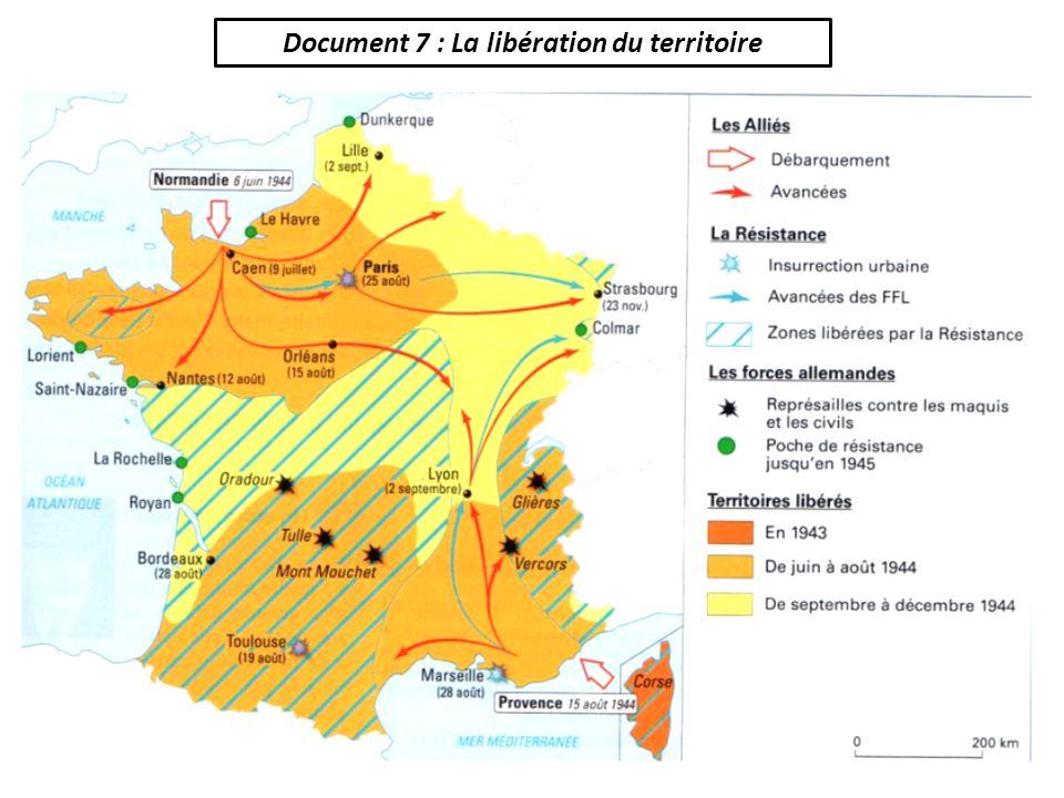 Document 7 : La libération du territoire