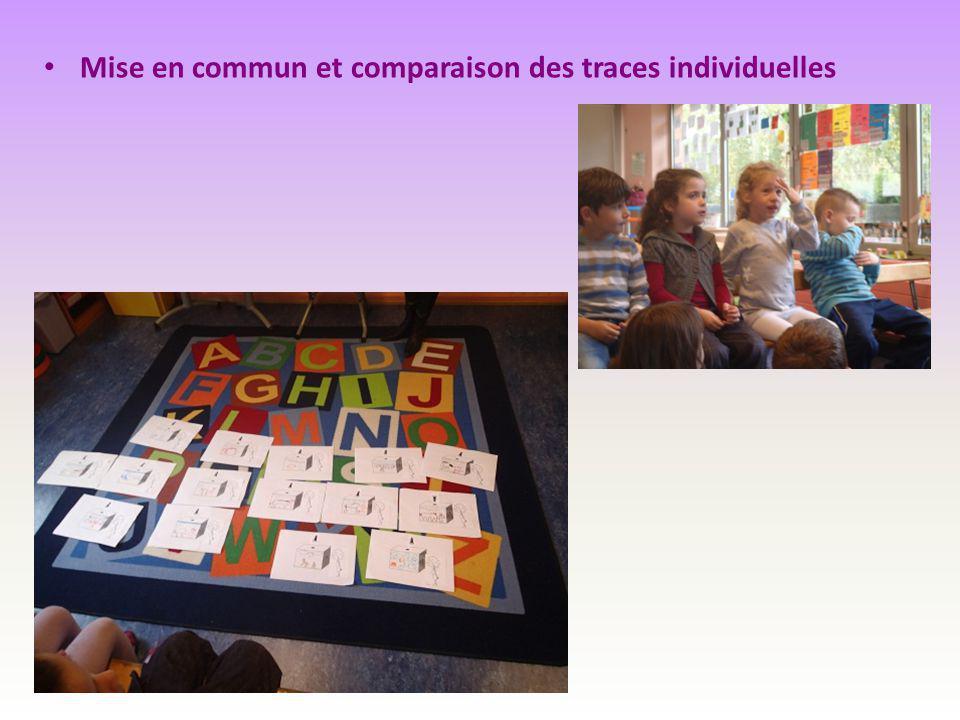 Mise en commun et comparaison des traces individuelles