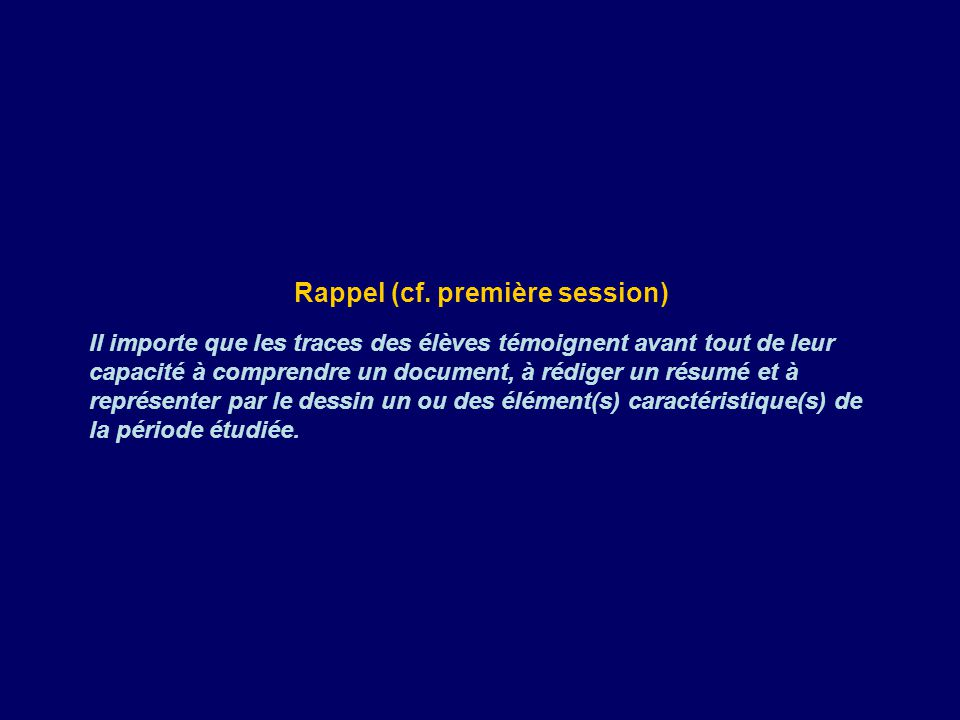 Rappel (cf.