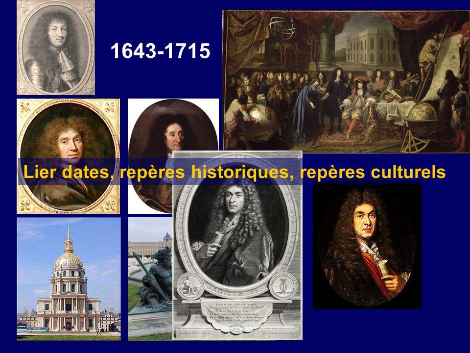 Lier dates, repères historiques, repères culturels