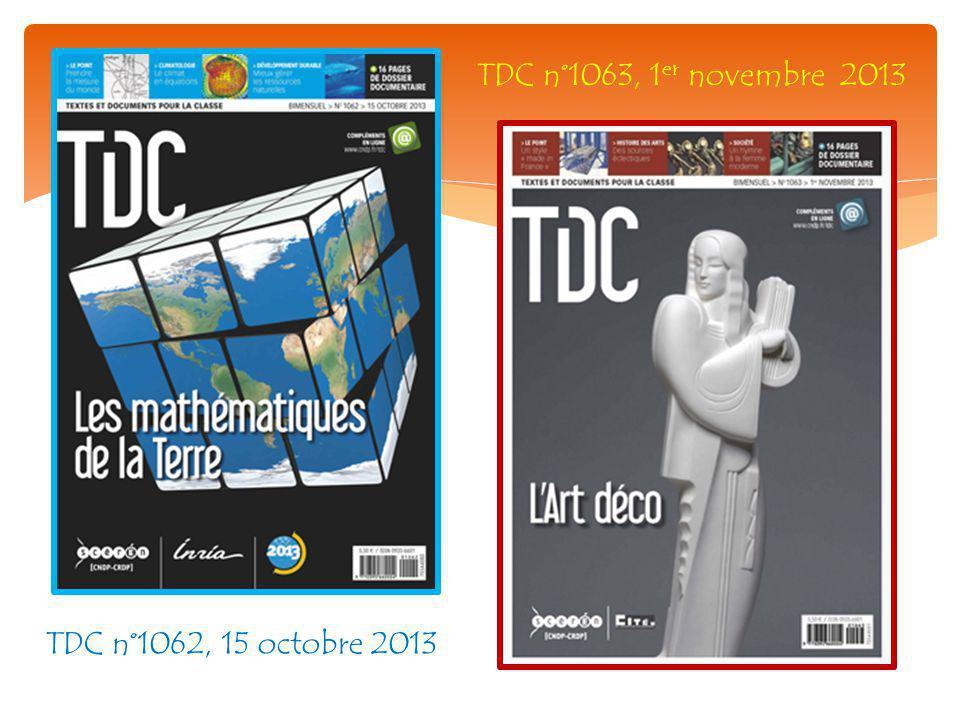 TDC n°1062, 15 octobre 2013 TDC n°1063, 1 er novembre 2013