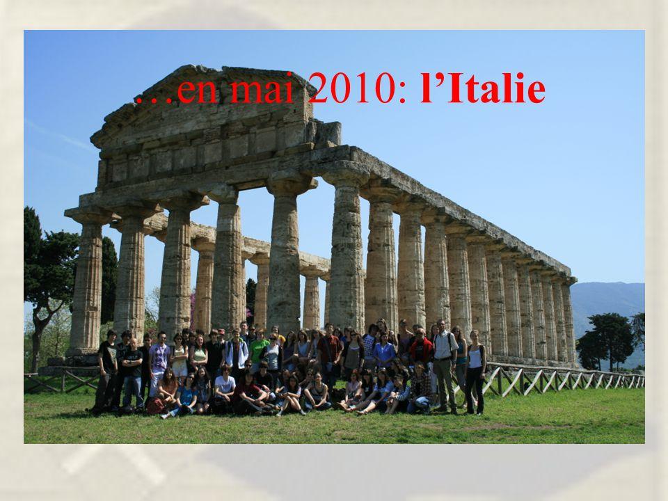 …en mai 2010: l'Italie