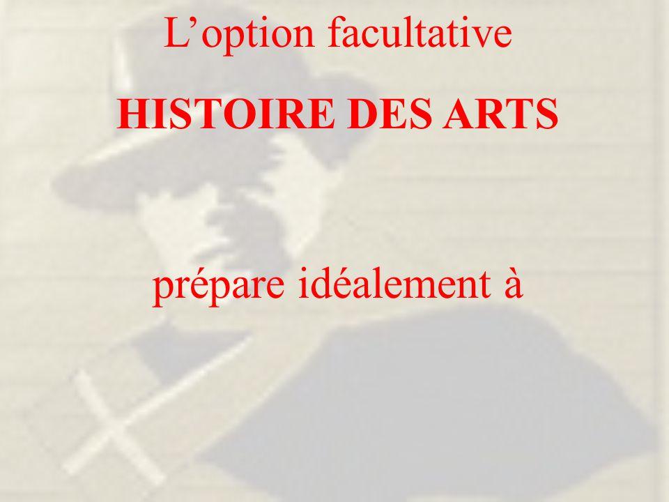 prépare idéalement à L'option facultative HISTOIRE DES ARTS