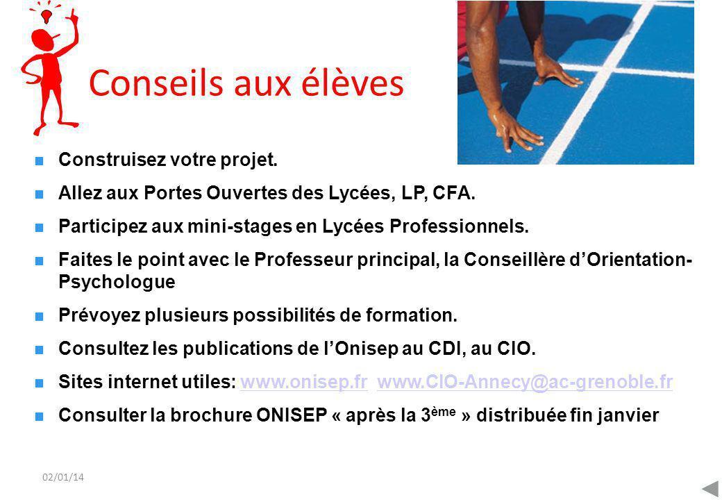 02/01/14 Centre d'Information et d'Orientation d'Annecy Citée Administrative 07 rue Dupanloup 8ème étage 74 040 ANNECY Cedex tél.