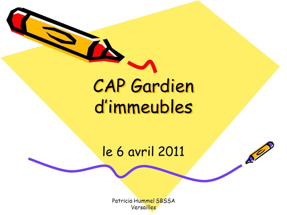 Patricia Hummel SBSSA Versailles CAP Gardien d'immeubles le 6 avril 2011