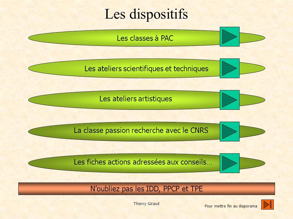 Thierry Giraud les différents interlocuteurs et quelques principes pour construire et mettre en œuvre un projet Un projet cohérent avec les objectifs