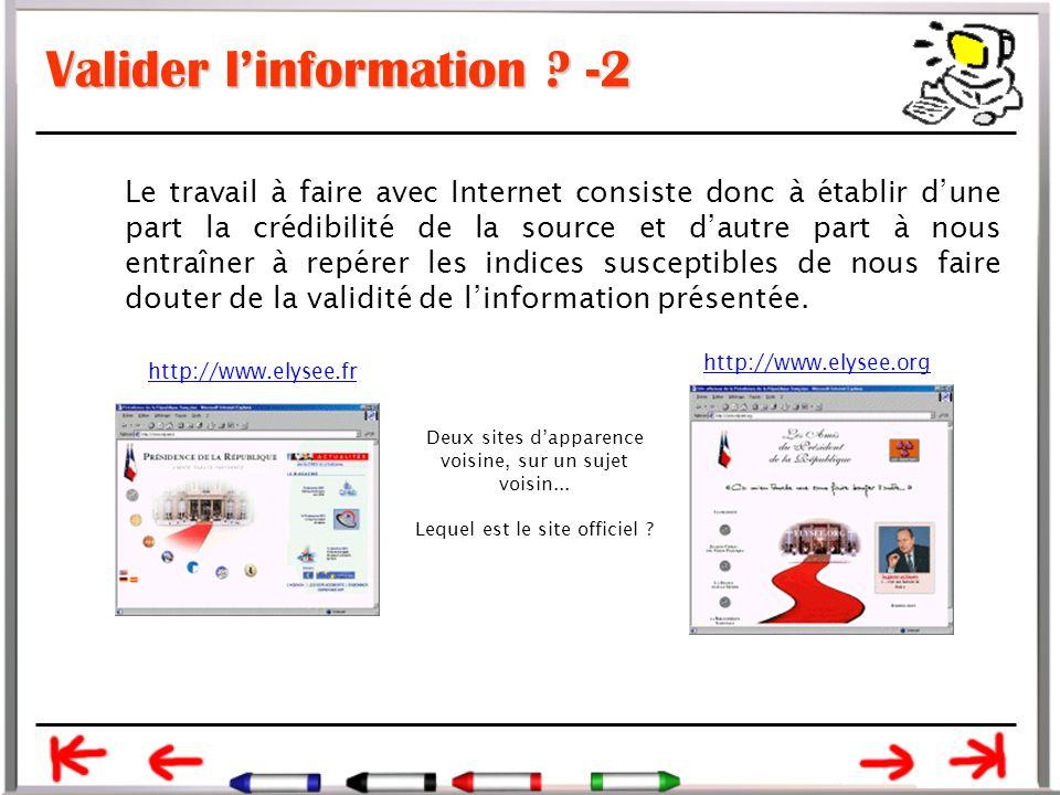 Crédibilité de la source –6c  et enfin, un certain respect de l'internaute : beaucoup de sites américains et de plus en plus de sites français proposent une rubrique Confidentialité (ou Privacy) dans laquelle l'éditeur définit ses règles de traitement des données personnelles qu'il peut avoir recueillies au cours de la navigation de l'internaute.