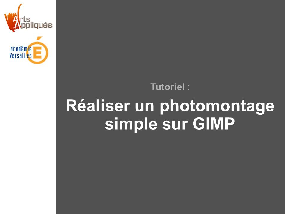 Tutoriel : Réaliser un photomontage simple sur GIMP