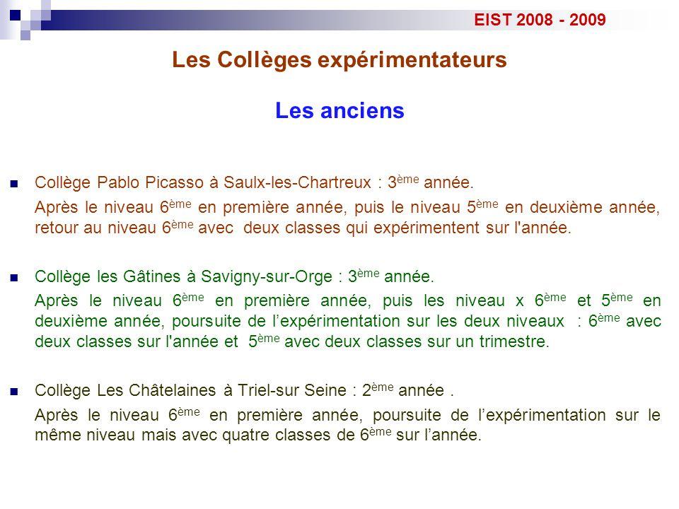 Collège Pablo Picasso à Saulx-les-Chartreux : 3 ème année. Après le niveau 6 ème en première année, puis le niveau 5 ème en deuxième année, retour au
