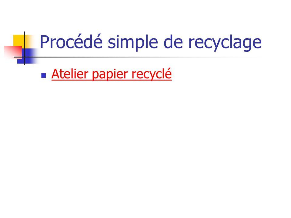 Procédé simple de recyclage Atelier papier recyclé