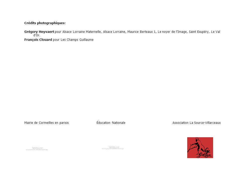 Crédits photographiques: Grégory Heyvaert pour Alsace Lorraine Maternelle, Alsace Lorraine, Maurice Berteaux 1, Le noyer de l'Image, Saint Exupéry, Le