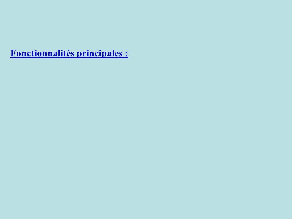 Fonctionnalités principales : pour chaque compétence