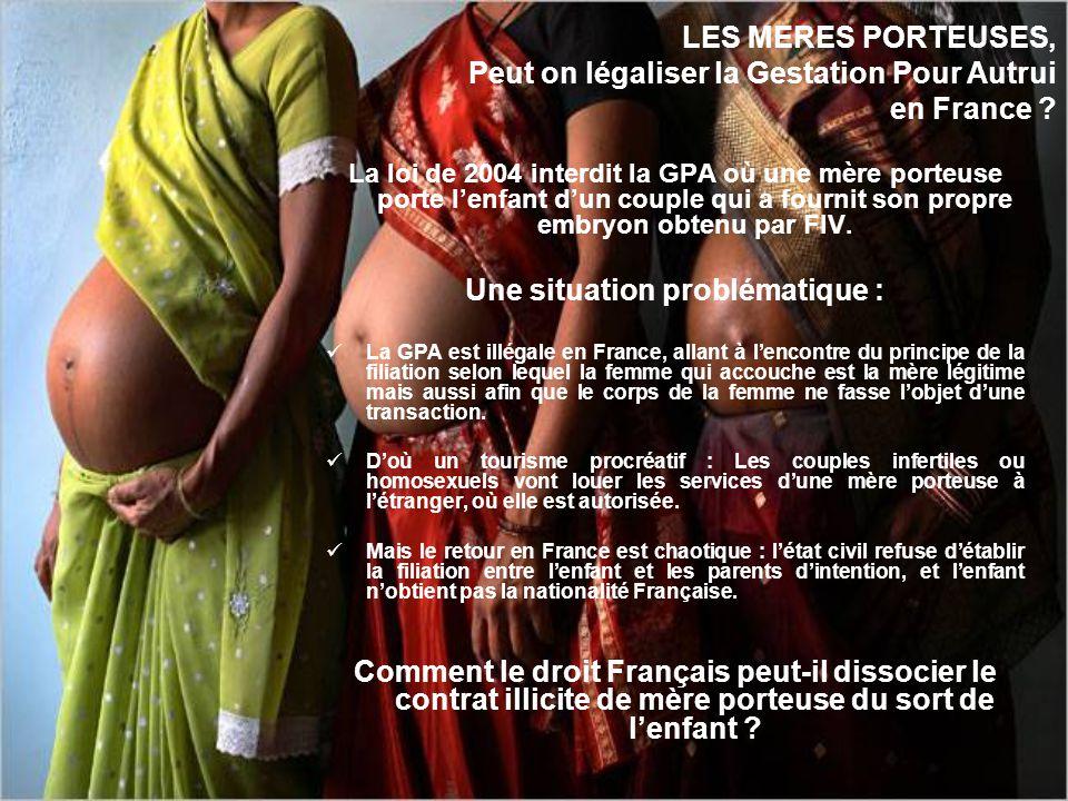 Gratuité et anonymat sont les deux principes fondamentaux du don de gamètes en France. Les buts : Éviter une intrusion du donneur dans la famille de l