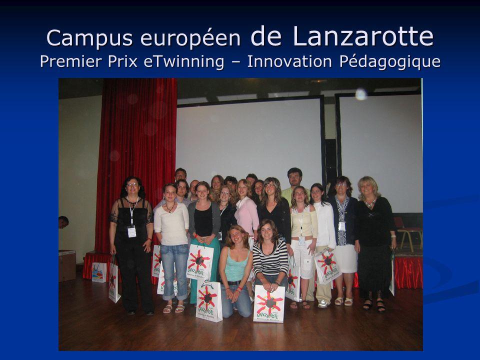 Campus européen de Lanzarotte Premier Prix eTwinning – Innovation Pédagogique