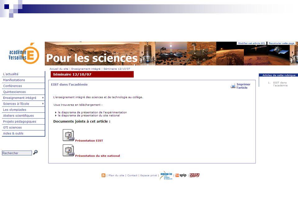 Disciplines scientifiques et technologique Introduction commune http://eduscol.education.fr/D0082/Sciences- Technologie_introduction_commune.pdf Journée EIST Lycée Jules Ferry 4 juin 2008