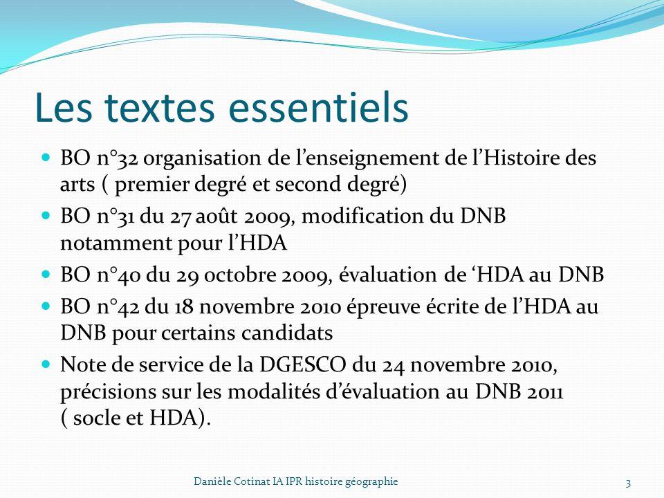 Les textes essentiels BO n°32 organisation de l'enseignement de l'Histoire des arts ( premier degré et second degré) BO n°31 du 27 août 2009, modifica