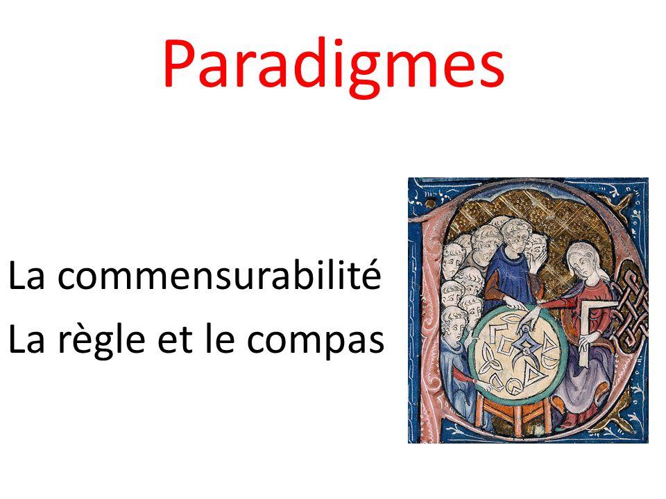 Paradigmes La commensurabilité La règle et le compas