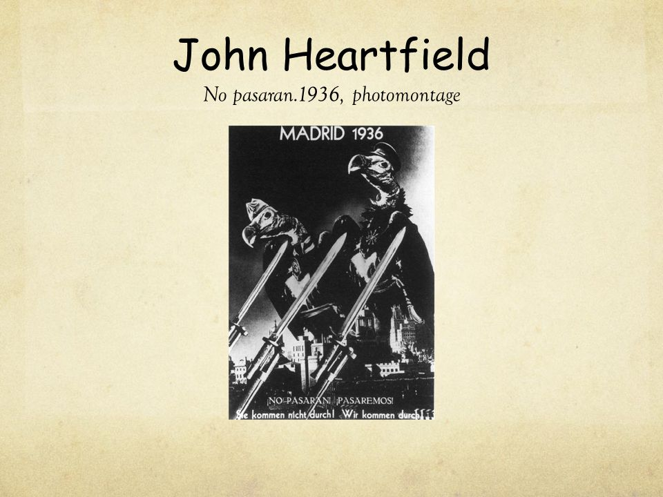 John Heartfield No pasaran.1936, photomontage