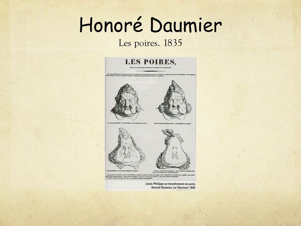 Honoré Daumier Les poires. 1835
