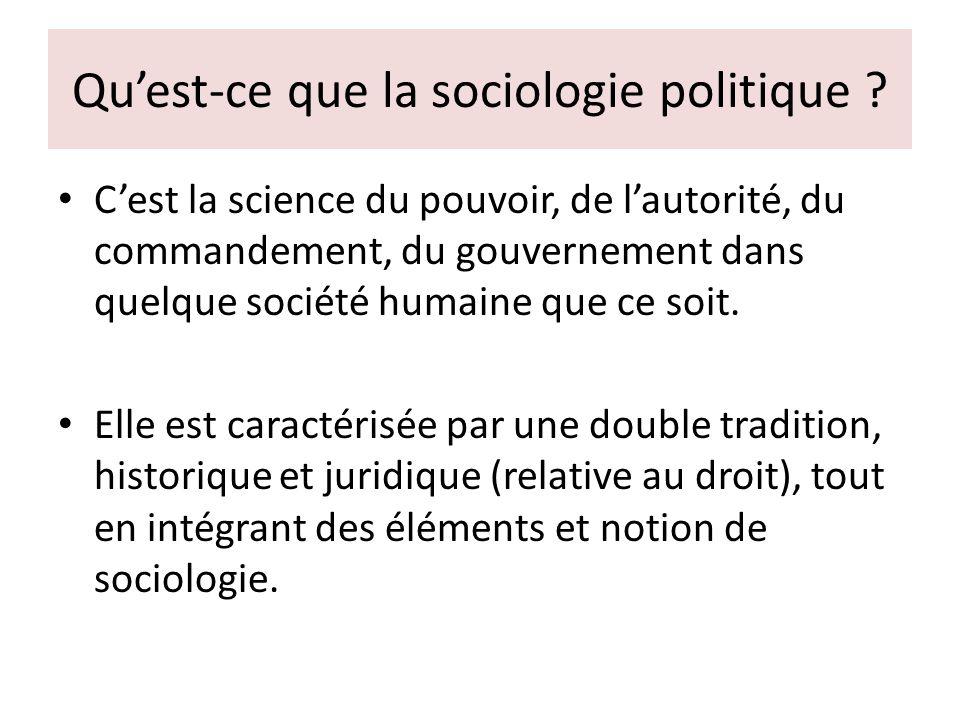 Qu'est-ce que la sociologie politique .