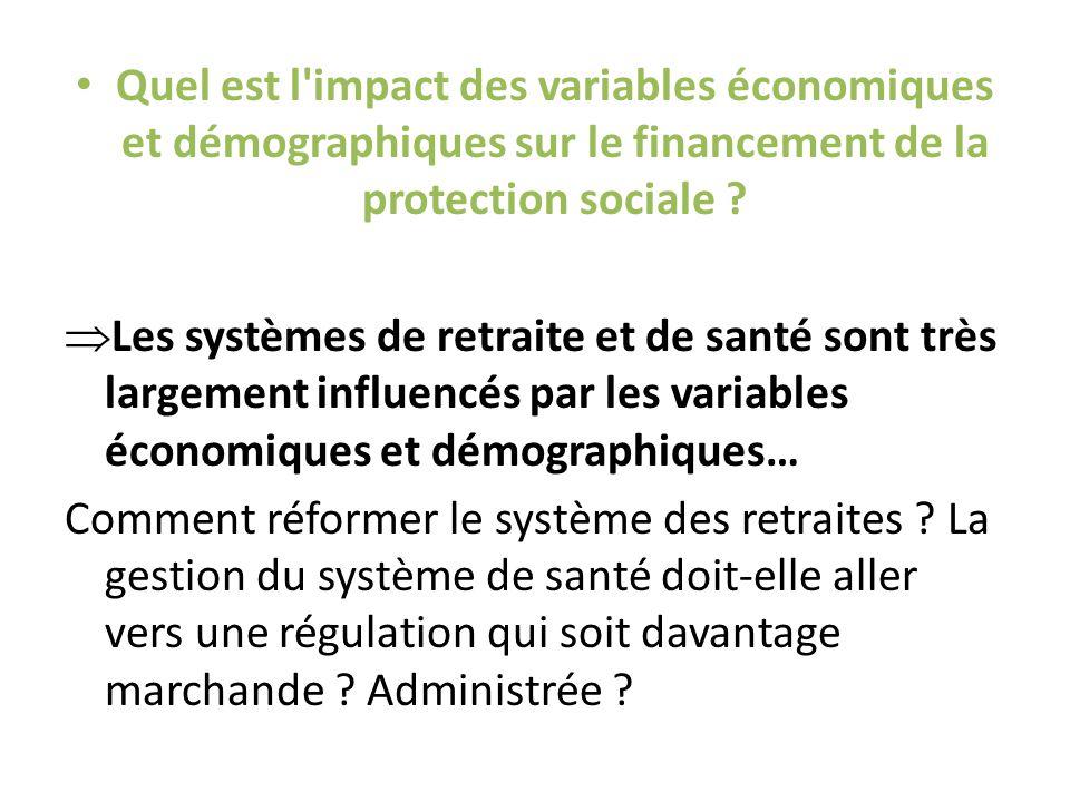 Quel est l impact des variables économiques et démographiques sur le financement de la protection sociale .