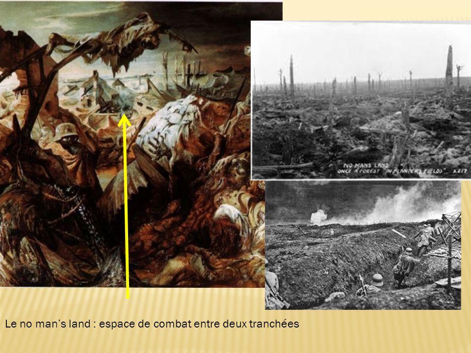 Le no man's land : espace de combat entre deux tranchées