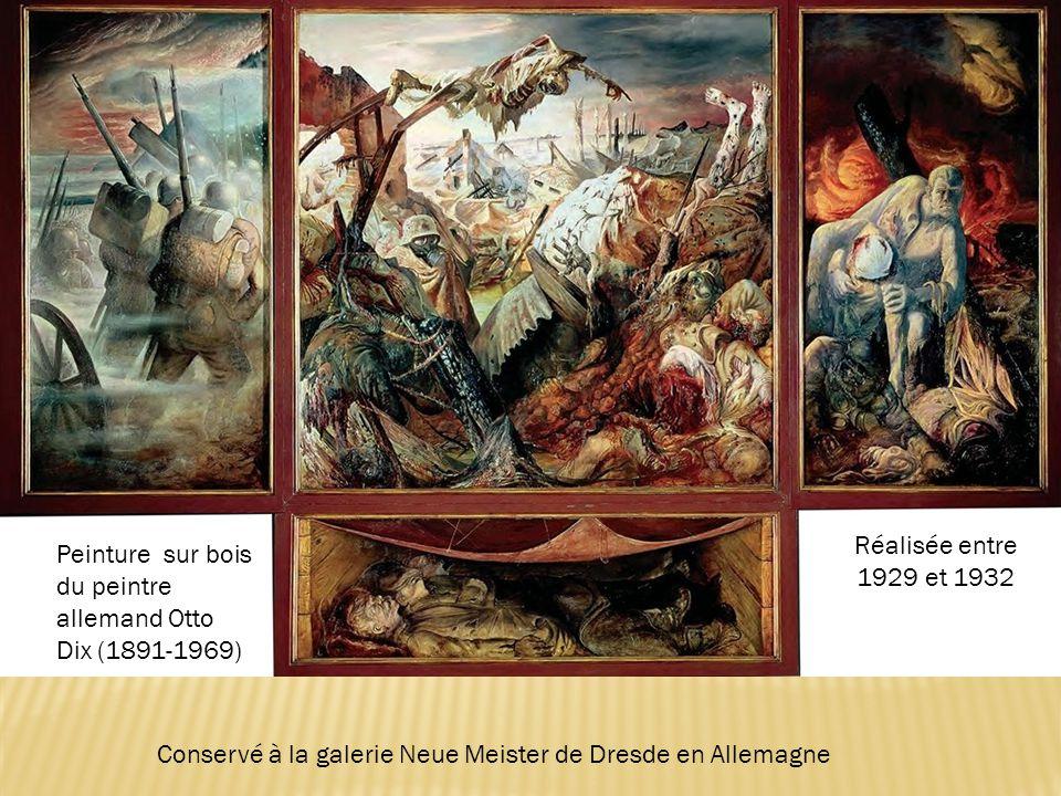 Peinture sur bois du peintre allemand Otto Dix (1891-1969) Réalisée entre 1929 et 1932 Conservé à la galerie Neue Meister de Dresde en Allemagne