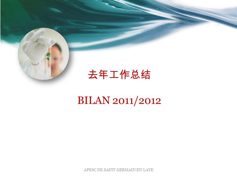 去年工作总结 BILAN 2011/2012 APESC DE SAINT GERMAIN EN LAYE
