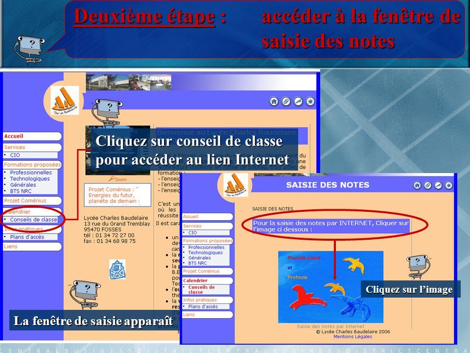 Troisième étape :naviguer dans profnote Une nouvelle fenêtre apparaît Cliquez sur l'Espace Professeurs Et voilà