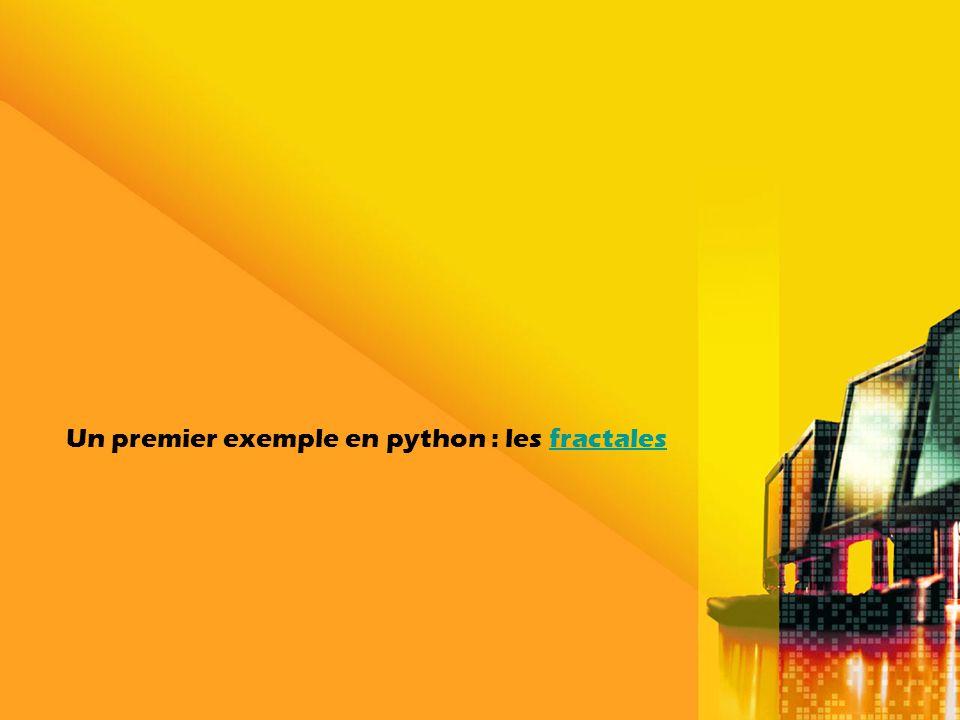Un premier exemple en python : les fractalesfractales