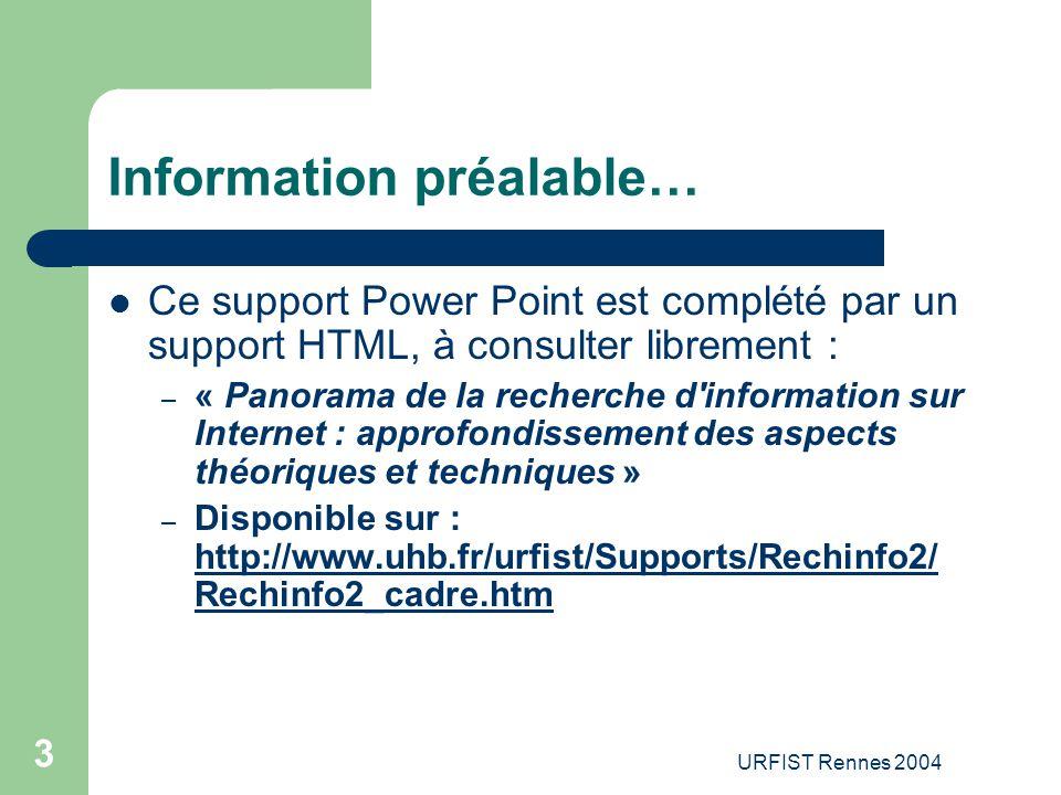 URFIST Rennes 2004 54 10.