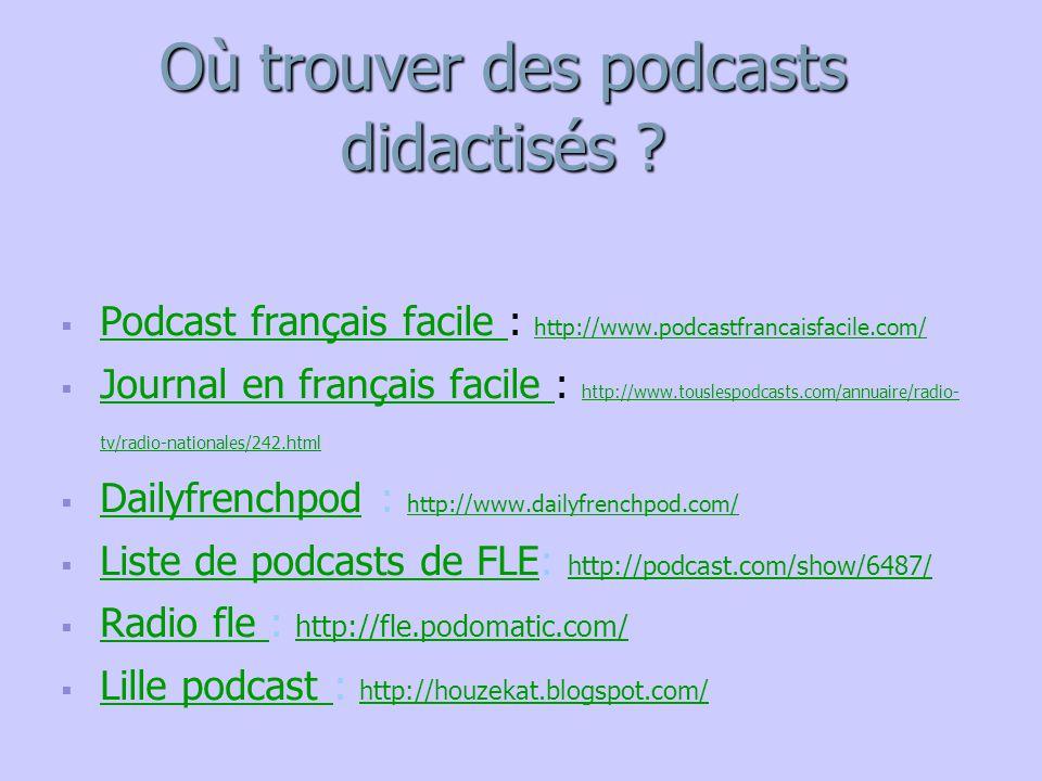   Podcast français facile : http://www.podcastfrancaisfacile.com/ Podcast français facile http://www.podcastfrancaisfacile.com/   Journal en franç