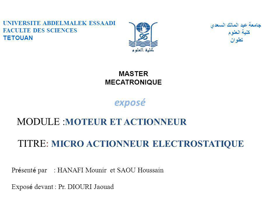Plan  Introduction  Conception du micro actionneur électrostatique  Micro-miroir électrostatique  conclusion