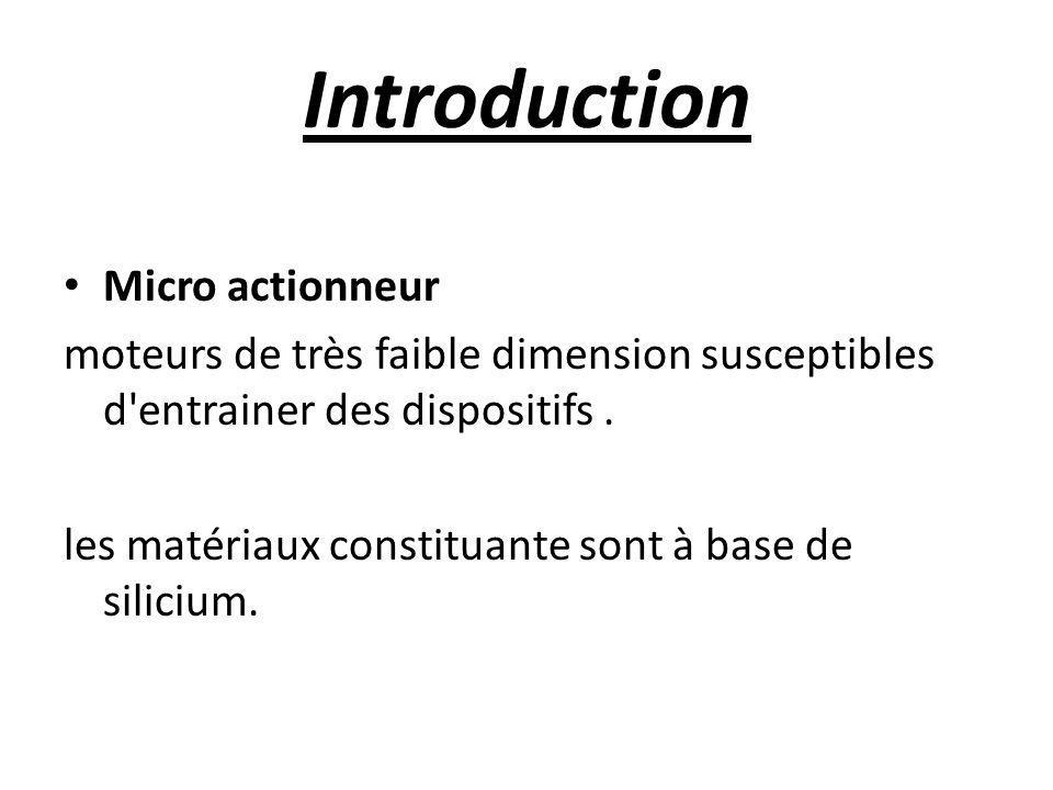 Introduction Micro actionneur moteurs de très faible dimension susceptibles d entrainer des dispositifs.