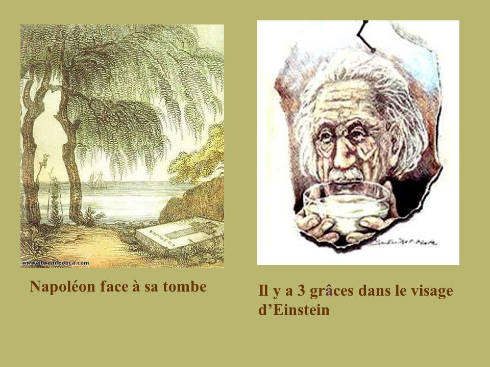 Napoléon face à sa tombe Il y a 3 grâces dans le visage d'Einstein