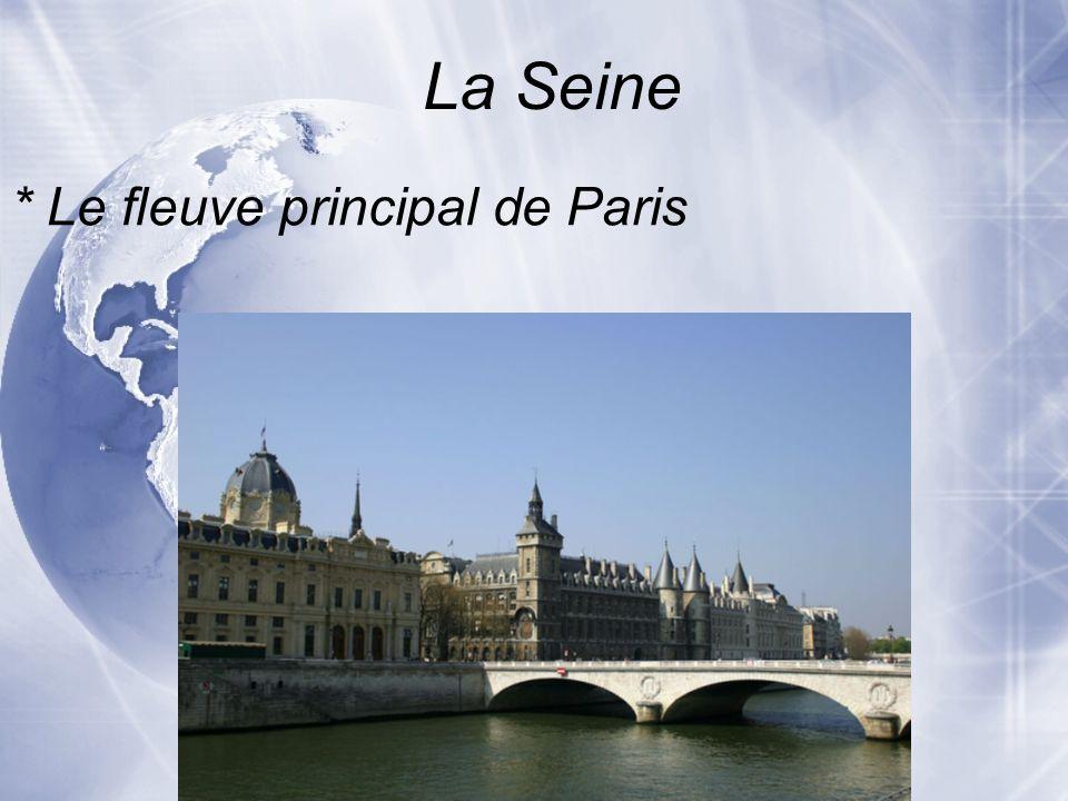 La Seine * Pour voir les ponts et tout de Paris Pourquoi visiter la Seine?