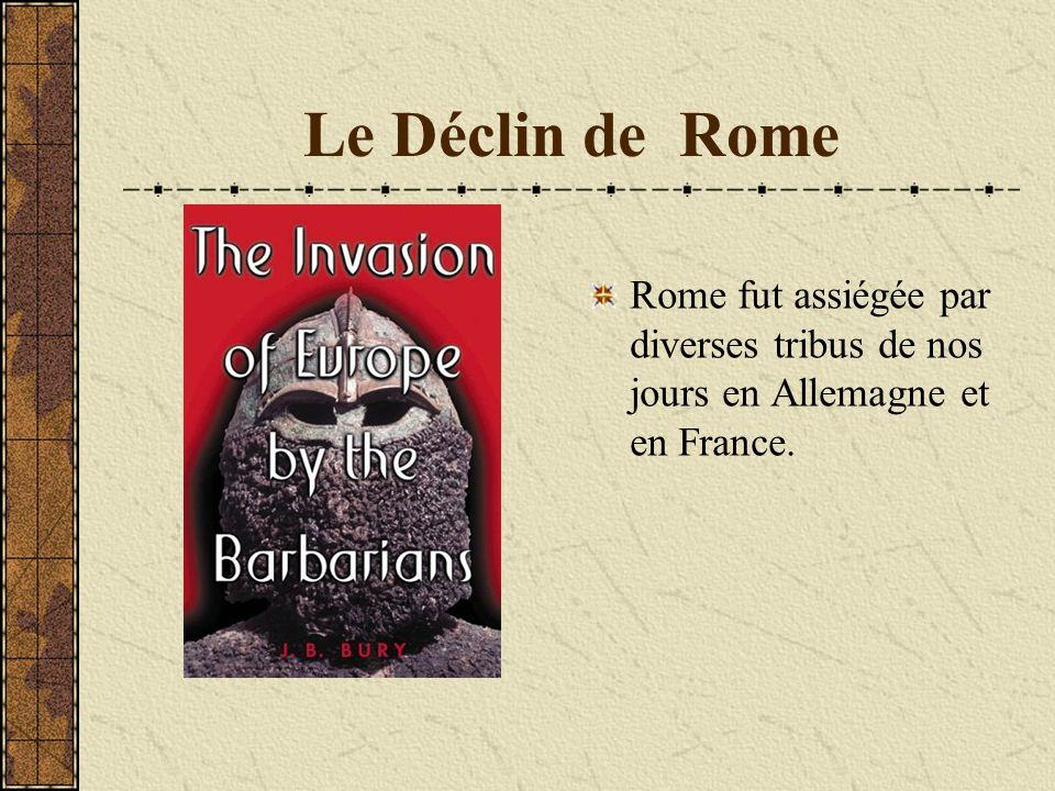 Bien que la chute de l'Empire Romain ne s'est pas produite du jour au lendemain, plusieurs considèrent comme le début du Moyen-Age.