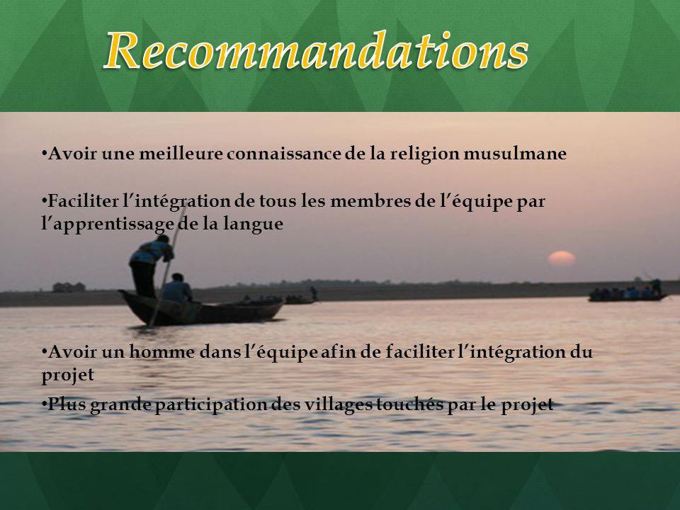Avoir une meilleure connaissance de la religion musulmane Faciliter l'intégration de tous les membres de l'équipe par l'apprentissage de la langue Avo