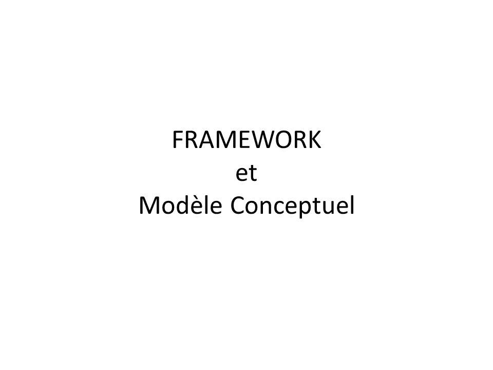 FRAMEWORK et Modèle Conceptuel