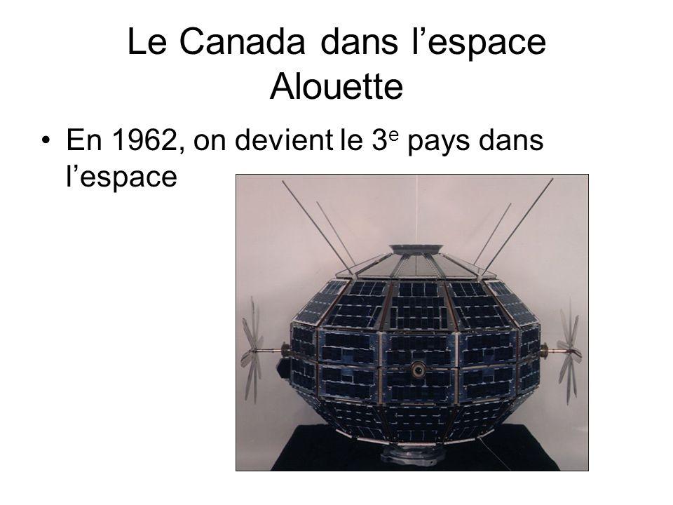 Le Canada dans l'espace Alouette En 1962, on devient le 3 e pays dans l'espace