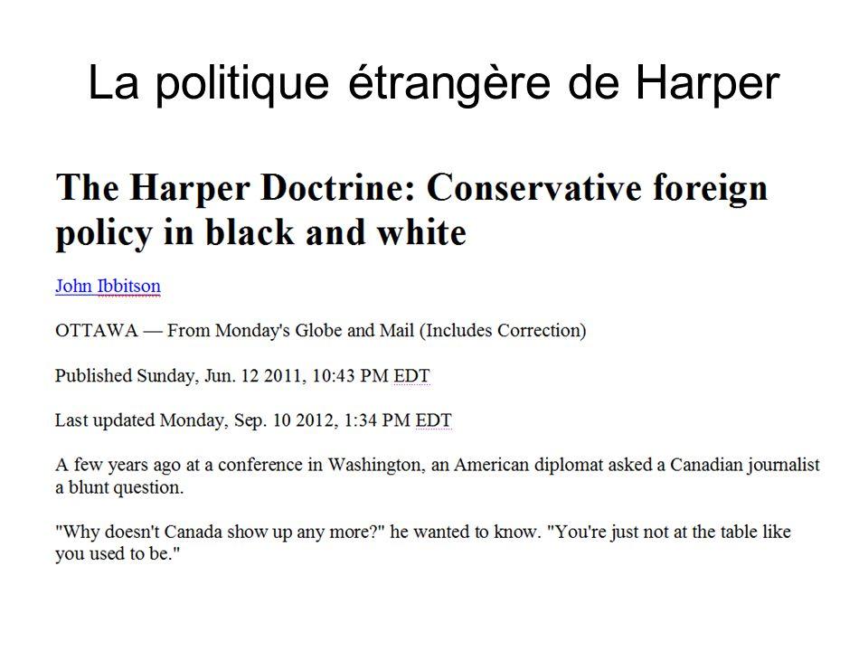 La politique étrangère de Harper