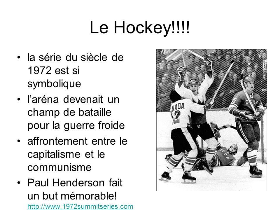 Le Hockey!!!! la série du siècle de 1972 est si symbolique l'aréna devenait un champ de bataille pour la guerre froide affrontement entre le capitalis