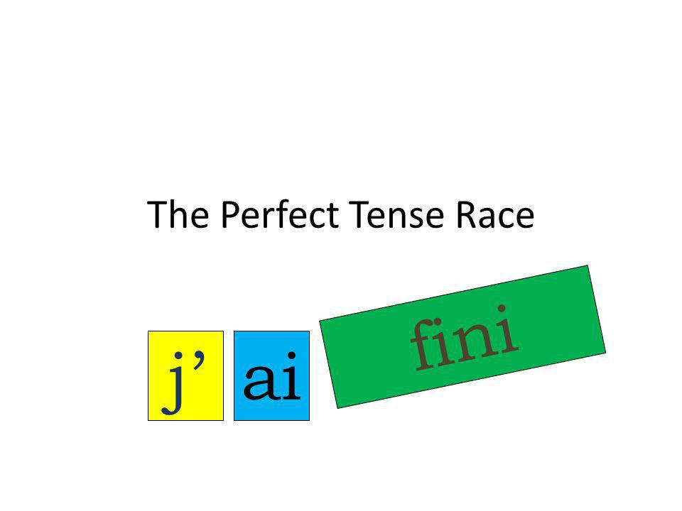 The Perfect Tense Race j' fini ai