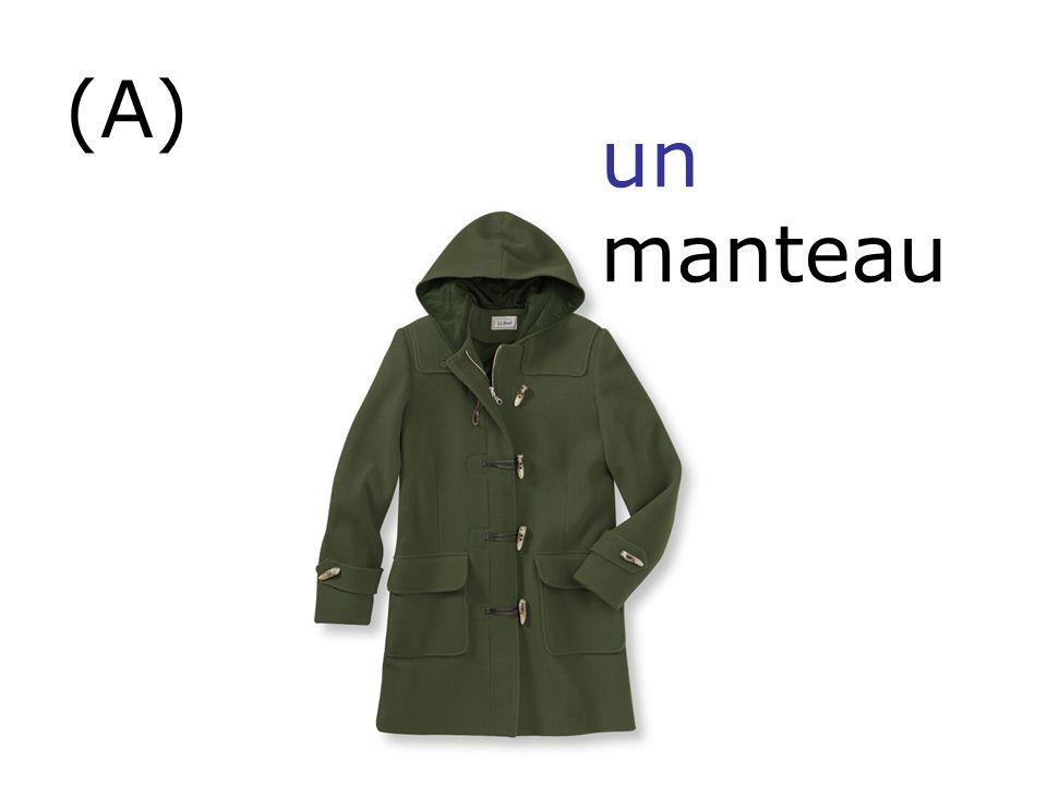 (A) un manteau