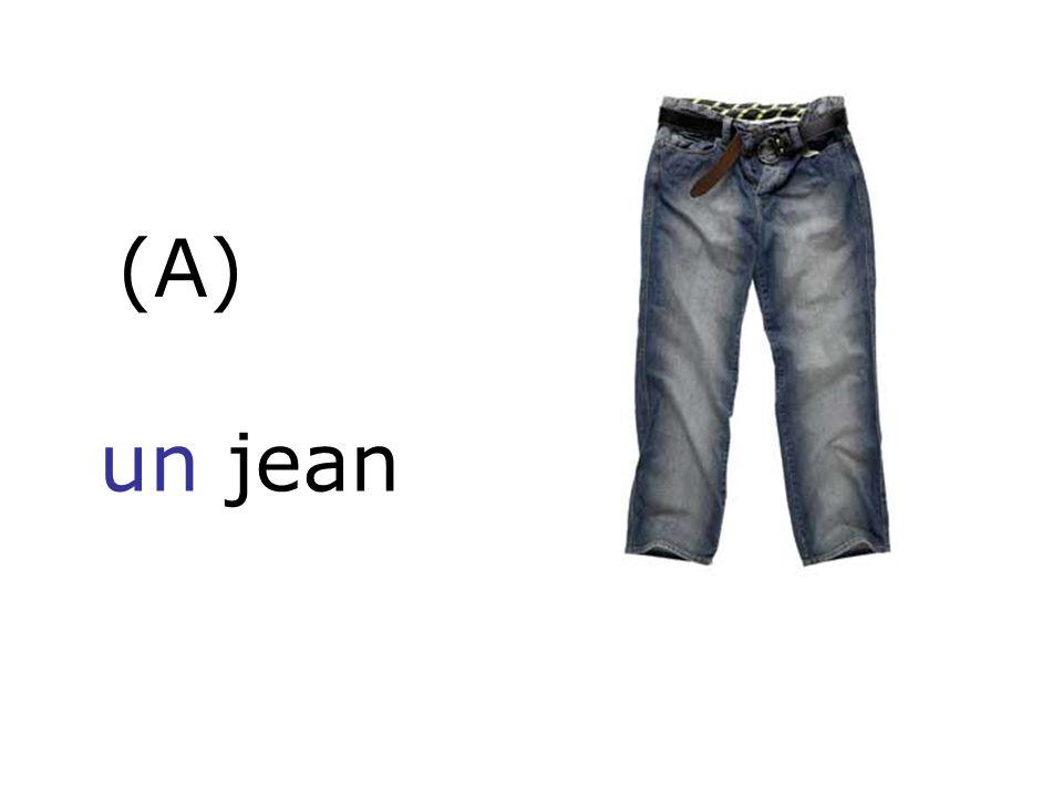(A) un jean