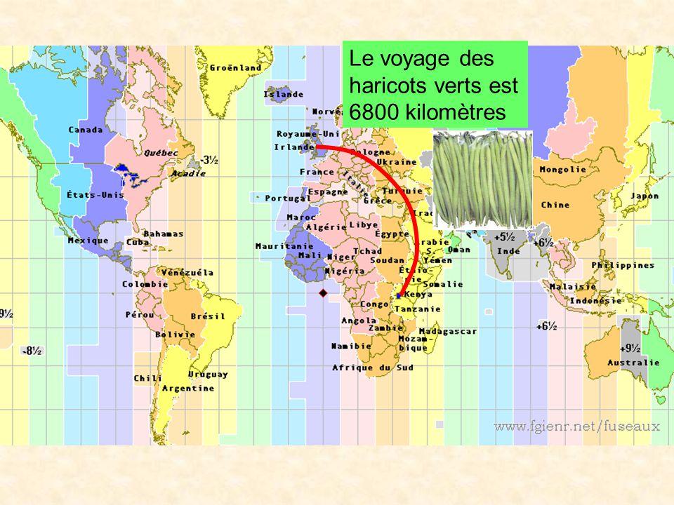 Le voyage des haricots verts est 6800 kilomètres