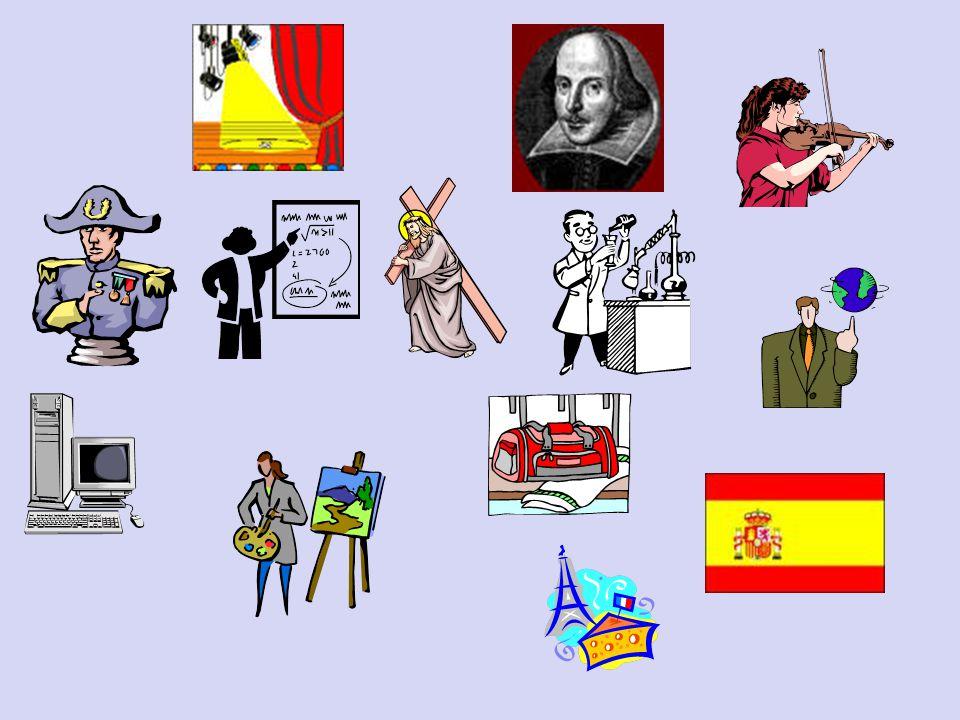 Le français Le dessin Le sport La musique La géo La religion L'anglais L'histoire L'informatique L'art dramatique L'espagnol Les maths Les sciences