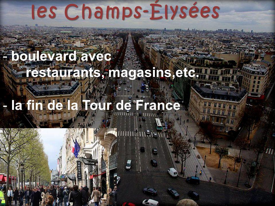la Tour Eiffel Eiffel - construit en 1889 pour l'Exposition Universelle -étages: 1e, 2e: escaliers et ascenseur 3e:ascenseur - restaurant, musée