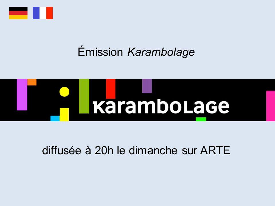 Émission Karambolage diffusée à 20h le dimanche sur ARTE
